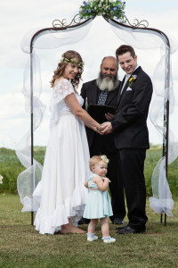 Blue-Eyed Boutique's first Canadian bride in her stunning Blue-Eyed Boutique wedding dress!